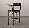 Vienna Cafe Counter Chair Antiqued Whiskey Leather