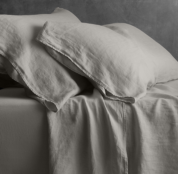 Garment-Dyed Linen Fitted Sheet