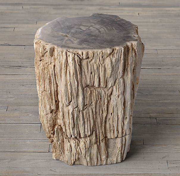 Petrified Wood Side Table Mixed (Set of 2)