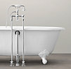 Vintage Imperial Clawfoot Soaking Tub with Floor Mounting Fittings with Metal Feet