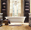 Vintage Imperial Clawfoot Soaking Tub with Floor Mounting Fittings with White Feet