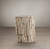 Petrified Wood Stump Table