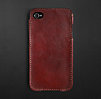 Artisan Leather iPhone® 4 and 4S Cover - Garnet