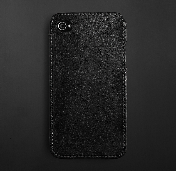 Artisan Leather iPhone® 4 & 4S Cover -  Ebony