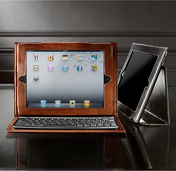 Artisan Leather iPad® Cover with Bluetooth® Keyboard - Garnet