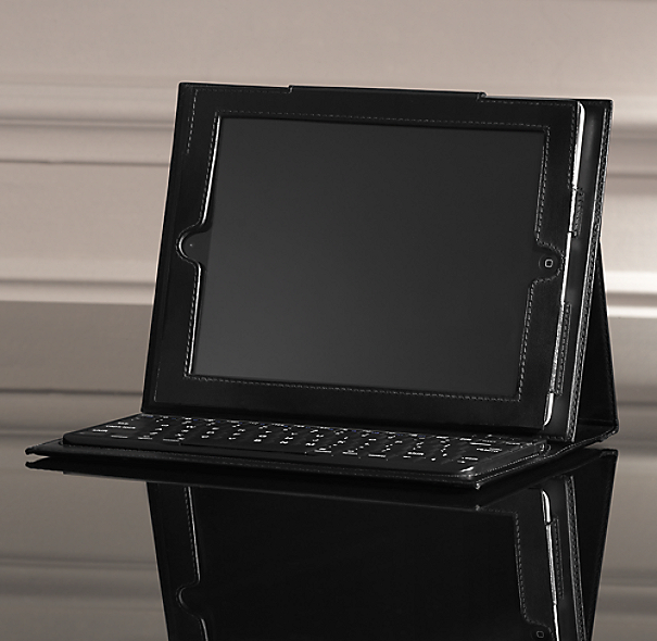 Artisan Leather iPad® Cover with Bluetooth® Keyboard - Ebony