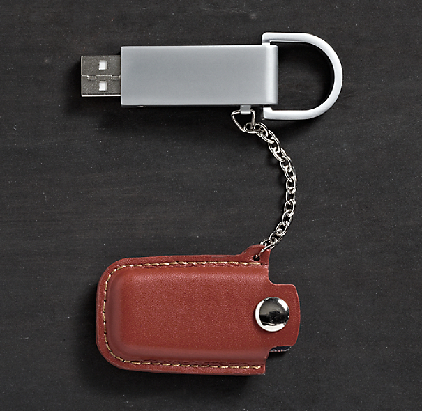Pocket Leather Flash Drive