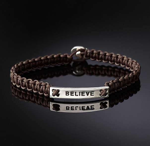 Believe Bracelet - Brown