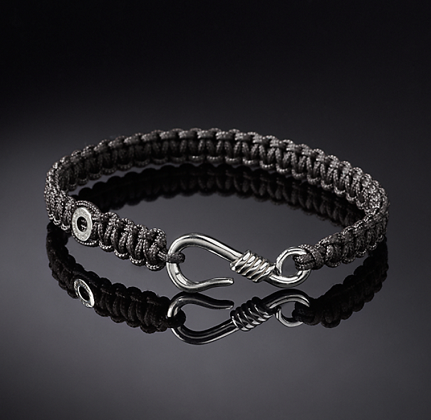 Hook Macrame Bracelet - Grey
