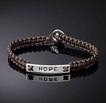 Hope Corded Bracelet - Brown