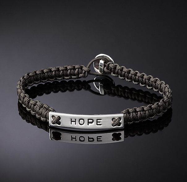 Hope Corded Bracelet - Grey