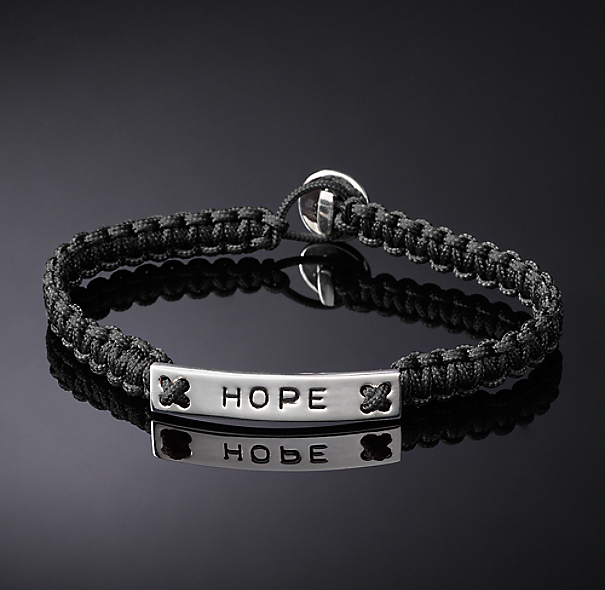Hope Corded Bracelet - Black