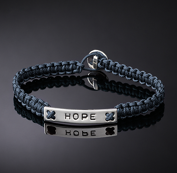 Hope Corded Bracelet - Navy