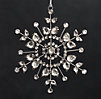 Victorian Glass Snowflake - Flower