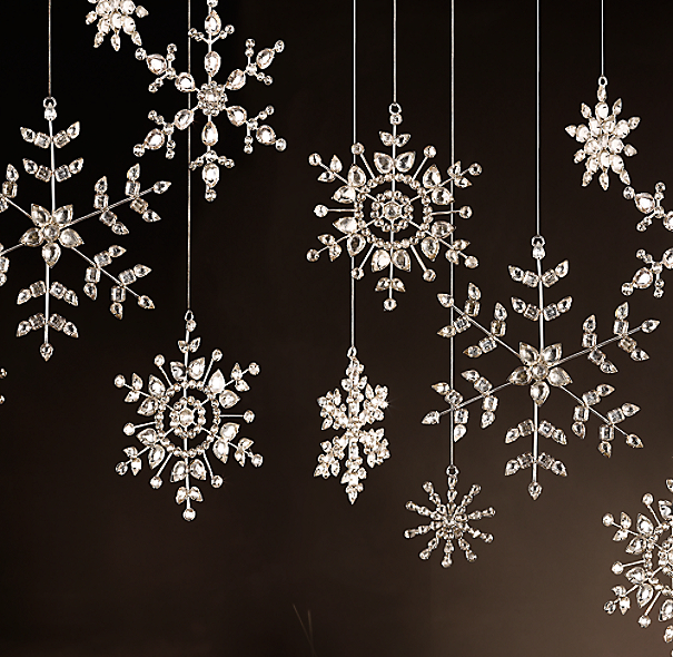 Victorian Glass Snowflake - Beaded
