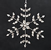 Victorian Glass Snowflake - Arrow