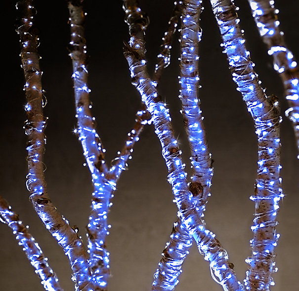 Starry String Lights - Sapphire Lights on Silver Wire