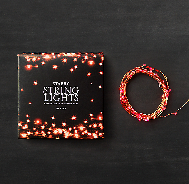 Starry String Lights - Garnet Lights on Copper Wire