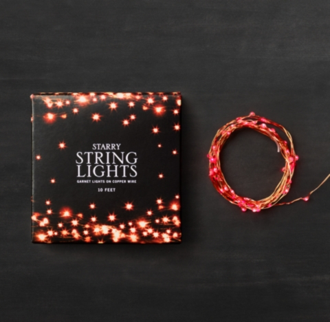 Restoration Hardware Starry String Lights Copper : Starry String Lights - Garnet Lights on Copper Wire