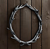 "Weathered Antler Wreath 36"" - Aluminum"