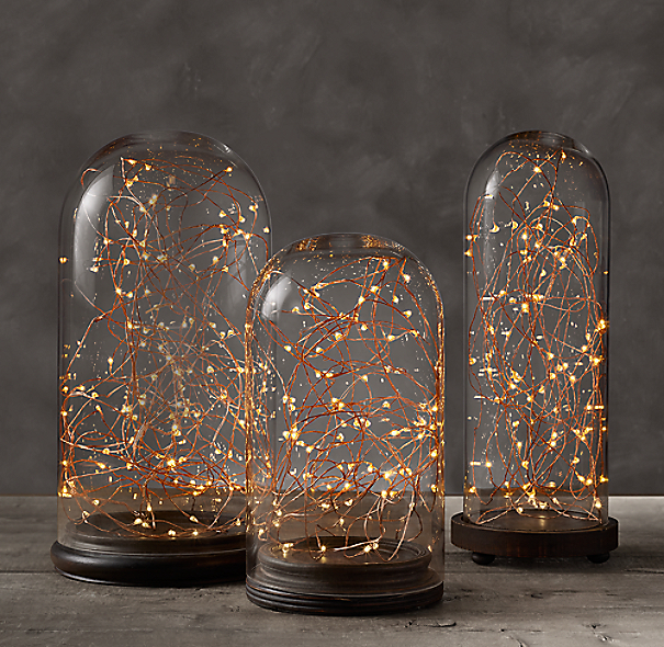 Starry String Lights Amber Lights On Copper Wire