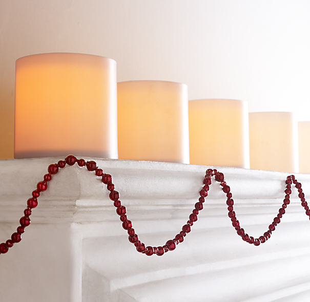 Small Beaded Garland - Red