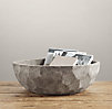 Sculptural Stone Vessel Faceted Bowl Large