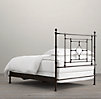 19th C. Quatrefoil Iron Bed without Footboard