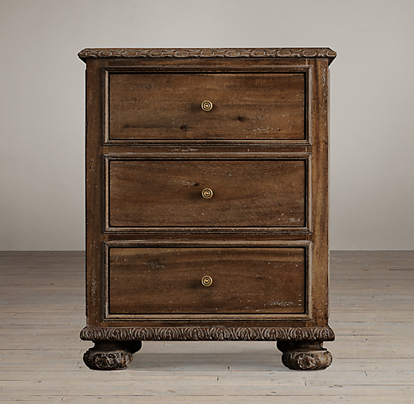 "24"" French Empire Closed Nightstand"