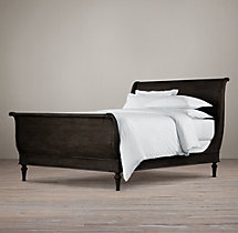 Empire Rosette Sleigh Bed with Footboard