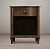 "24"" Empire Rosette Nightstand (Set of 2 Open) Antiqued Coffee"