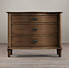 "38"" Empire Rosette Nightstand (Set of 2 Closed)  Antiqued Coffee"