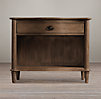 "38"" Empire Rosette Nightstand (Set of 2 Open) Antiqued Coffee"