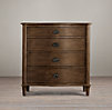 Empire Rosette 4-Drawer Dresser Antiqued Coffee