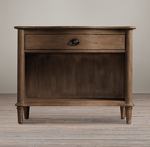 Empire Rosette Open Nightstand Antiqued Coffee