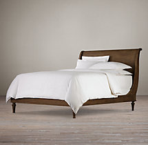 Empire Rosette Sleigh Bed Without Footboard