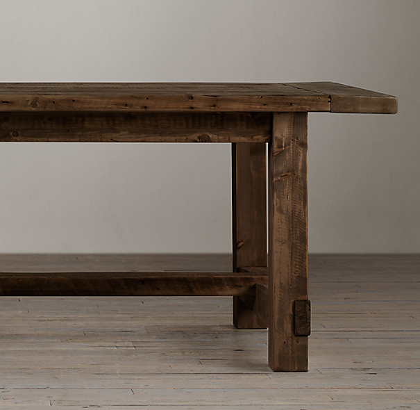 Salvaged Wood Farmhouse Rectangular Extension Table
