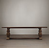 Trestle Salvaged Wood Fixed Dining Table Salvaged Brown