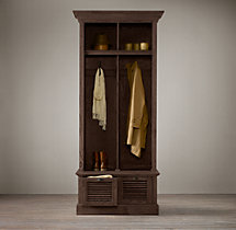 Shutter Weathered Oak 2-Bin Entry Locker