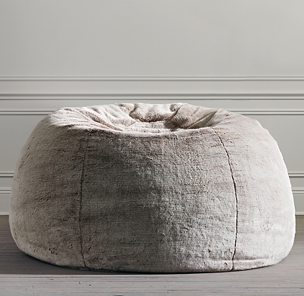grand luxe faux fur double bean bag lynx. Black Bedroom Furniture Sets. Home Design Ideas