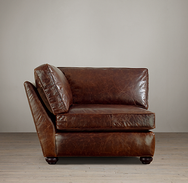 Lancaster Leather Corner Chair