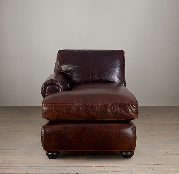 Lancaster Leather Left-Arm Chaise