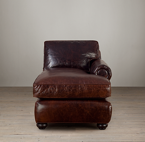 Lancaster Leather Right-Arm Chaise