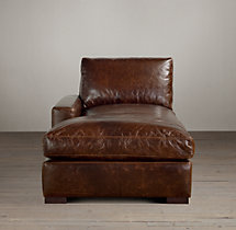 Maxwell Leather Left-Arm Chaise