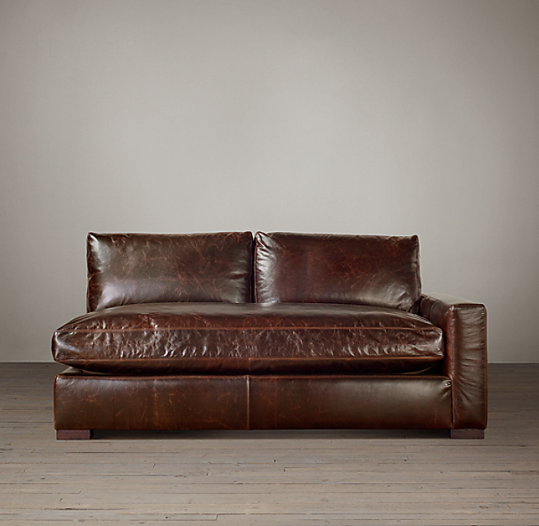 Maxwell Leather Right-Arm Sofa