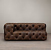 Soho Tufted Leather Left-Arm Sofa