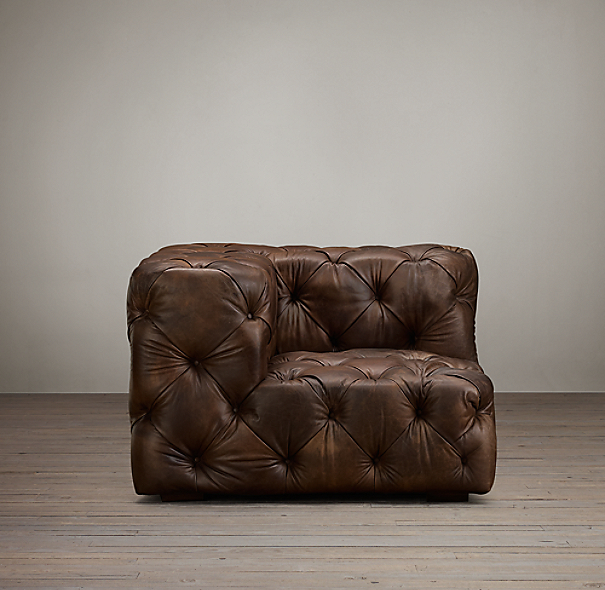 Soho Tufted Leather Corner Chair