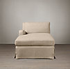 Belgian Slope Arm Slipcovered Left-Arm Chaise