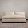 Belgian Slope Arm Upholstered Armless Sofa