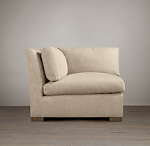 Belgian Slope Arm Upholstered Corner Chair